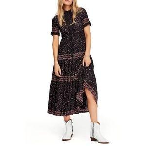 Free People Rare Feeling Pleated Maxi Dress XS